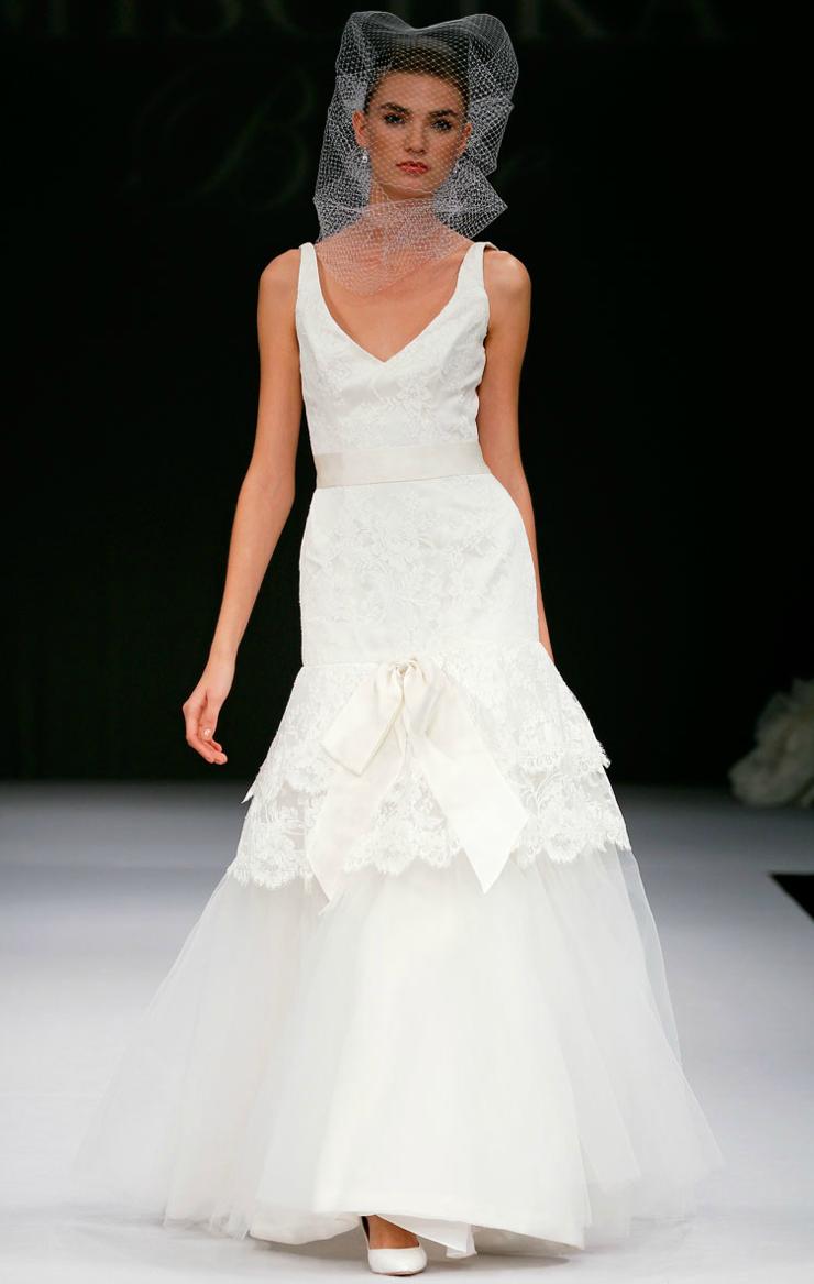 printed wedding dresses 2012 bridal gown trend lace mermaid | OneWed ...