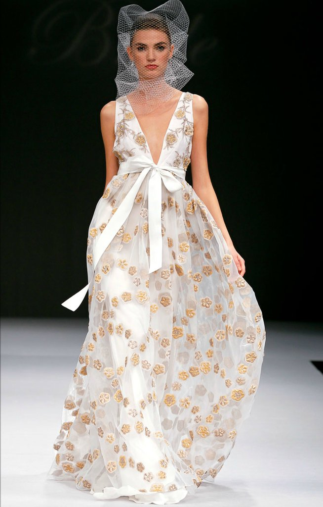 photo of printed wedding dresses 2012 bridal gown trend BM 1