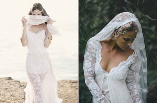 Grace loves lace beach wedding dresses and veils