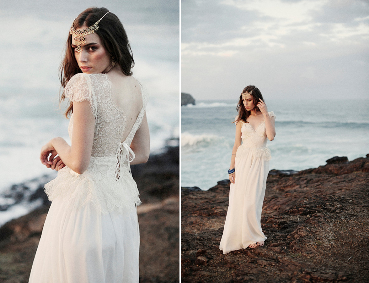 Grace loves lace beach wedding dresses and veils 2 for Lace beach wedding dresses