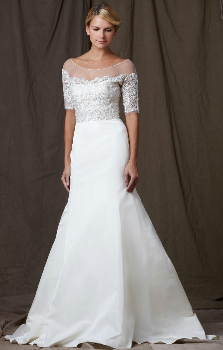 Lela rose 2012 wedding dress a line bridal gowns lace for What is an a line wedding dress