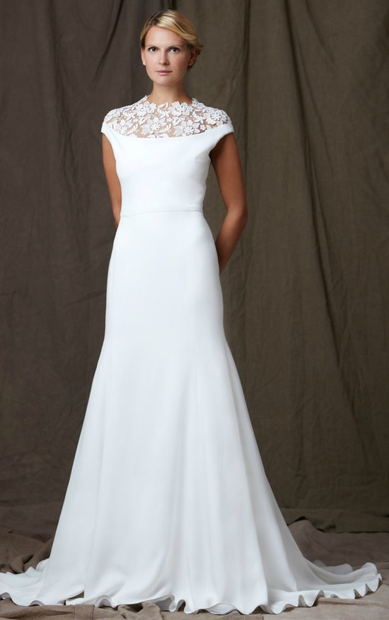 lelea rose 2012 wedding dress bateau neck a line
