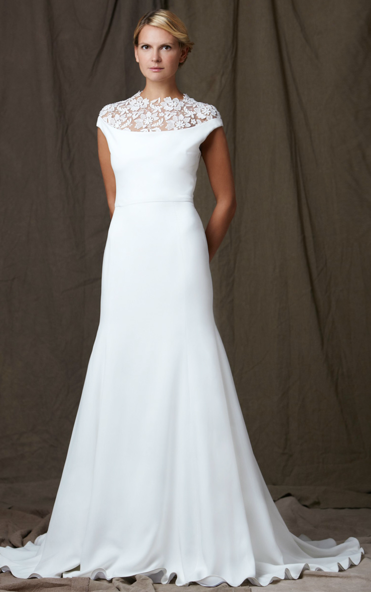 Lelea rose 2012 wedding dress bateau neck a line for What is an a line wedding dress