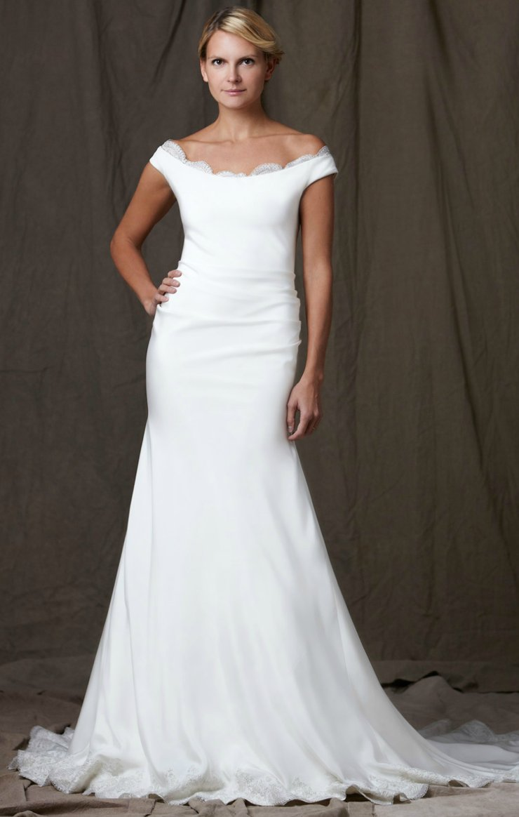 lela rose 2012 wedding dress white off the shoulder bridal