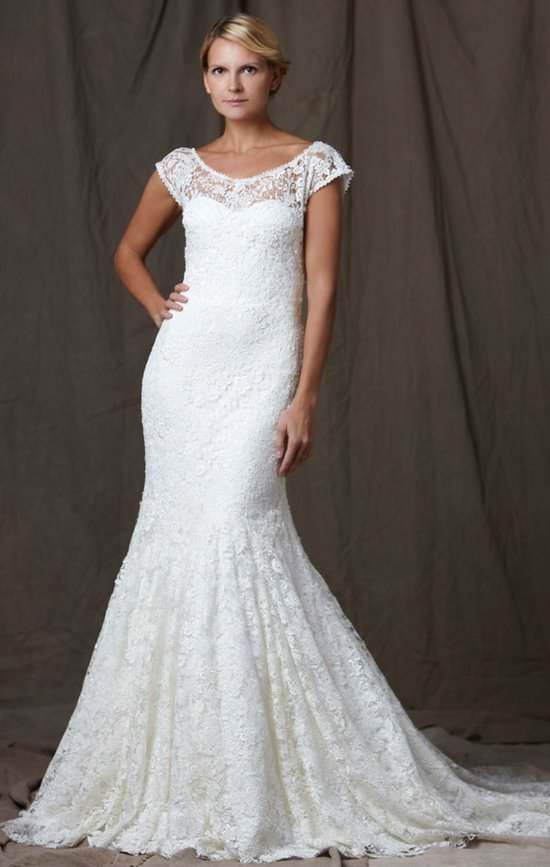 lela rose 2012 wedding dress lace mermaid bridal gown