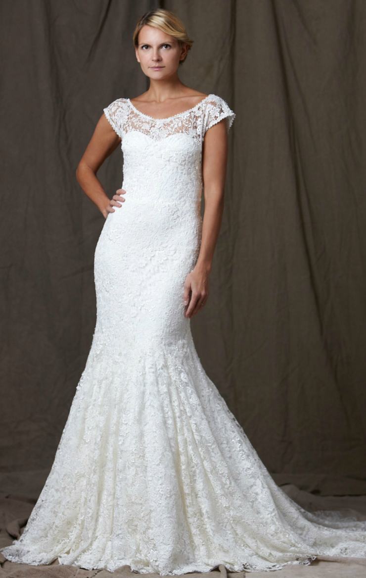 Lela Rose 2012 Wedding Dress Lace Mermaid Bridal Gown