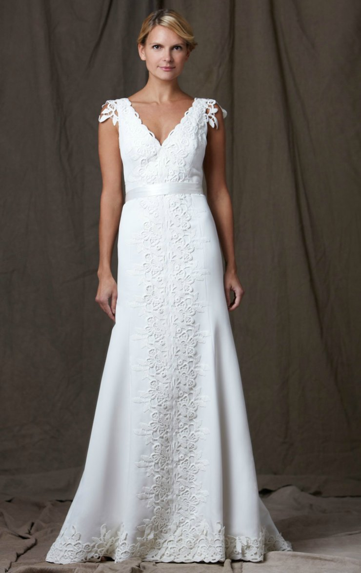 lela rose 2012 wedding dress v neck
