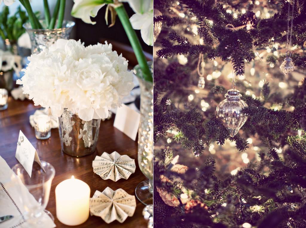 White winter wedding flowers centerpieces onewed