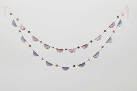 Gray rose gold and pink wedding bunting