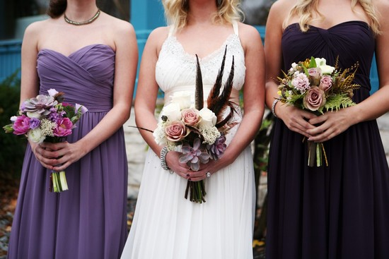 Seattle wedding with an art deco theme romantic bouquets