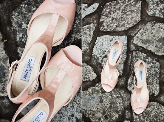 Blush pink Jimmy choo wedding shoes