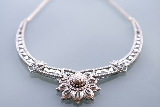 Statement wedding necklace heirloom jewelry