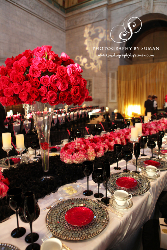 Persian Wedding Pink Black White M P Guest Table