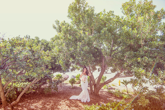 Romantic San Diego Wedding in Summer Ivory Lace Wedding Dress