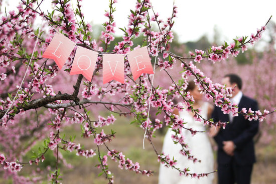 Ombre Love Wedding Banner