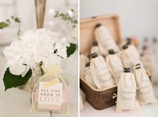 Wedding Fair Gift Bag Ideas : DIY wedding favors love themed matches