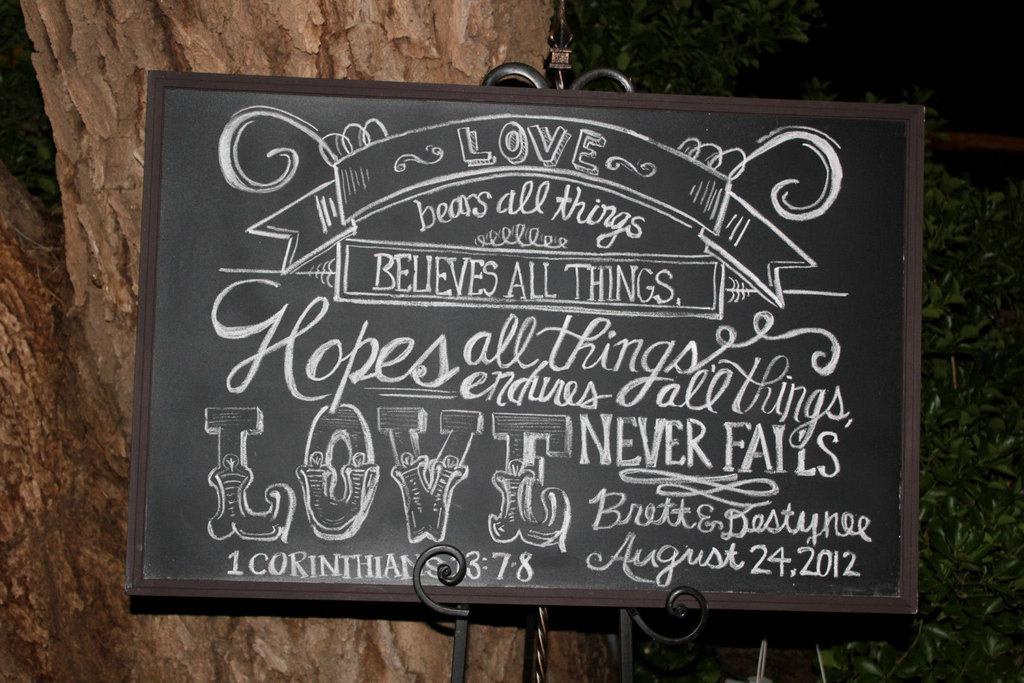 Rustic Love Chalkboard Wedding Sign