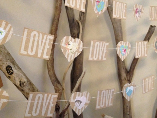 Natural love wedding garland