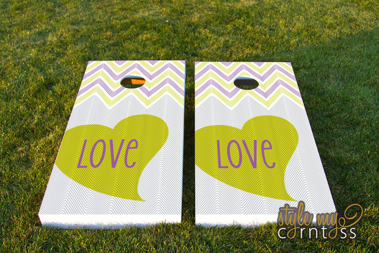 Custom Love wedding corn hole set