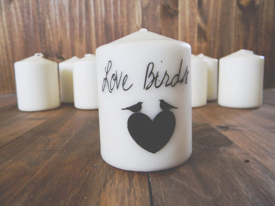 Love Birds wedding candles