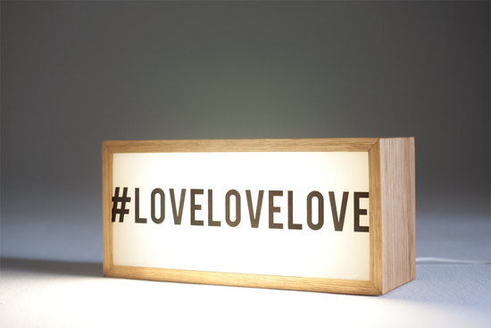hashtag love wedding sign