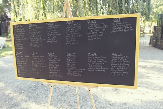 chalkboard chic wedding reception