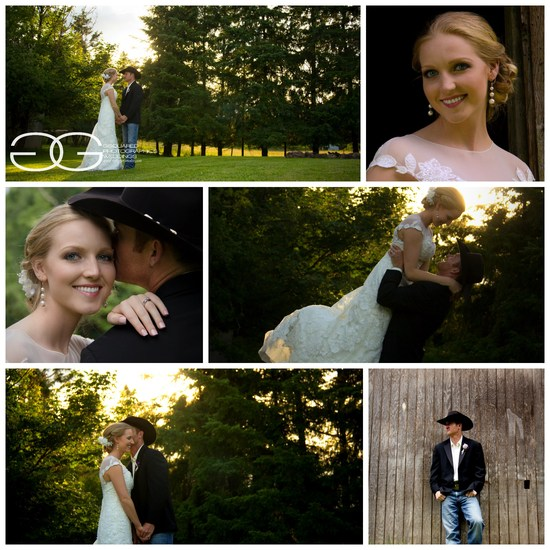 bride groom collage