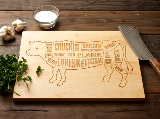 Gift Ideas for the Father of the Bride Beef Butcher Diagram Cutting Board