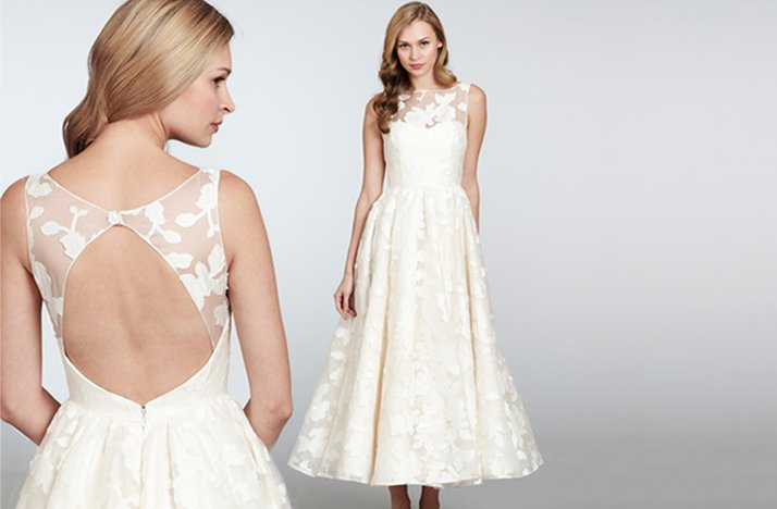 Hayley paige tea length wedding dress for nordstrom for Nordstrom wedding party dresses