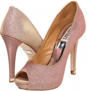 Badgley Mischka Humbie IV Rose Gold Evening Shoes