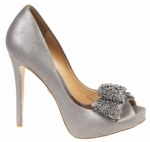 Badgley Mischka Vonda Pewter Evening Shoes