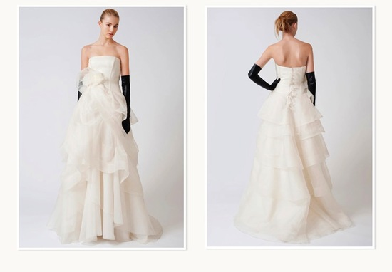 Spring 2013 Vera Wang wedding dress for Nordstrom