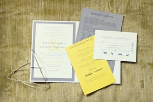 photo of Yellow and Grey Fall Wedding in California
