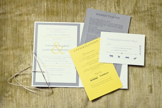 fall real wedding photography grey yellow wedding stationery