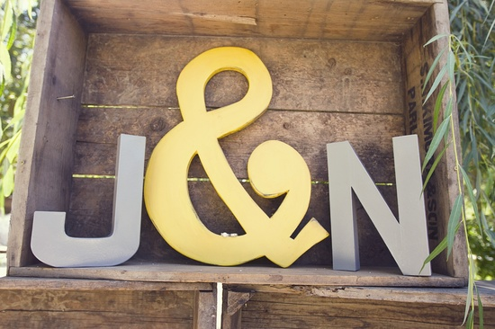 grey yellow monogram wedding details fall wedding