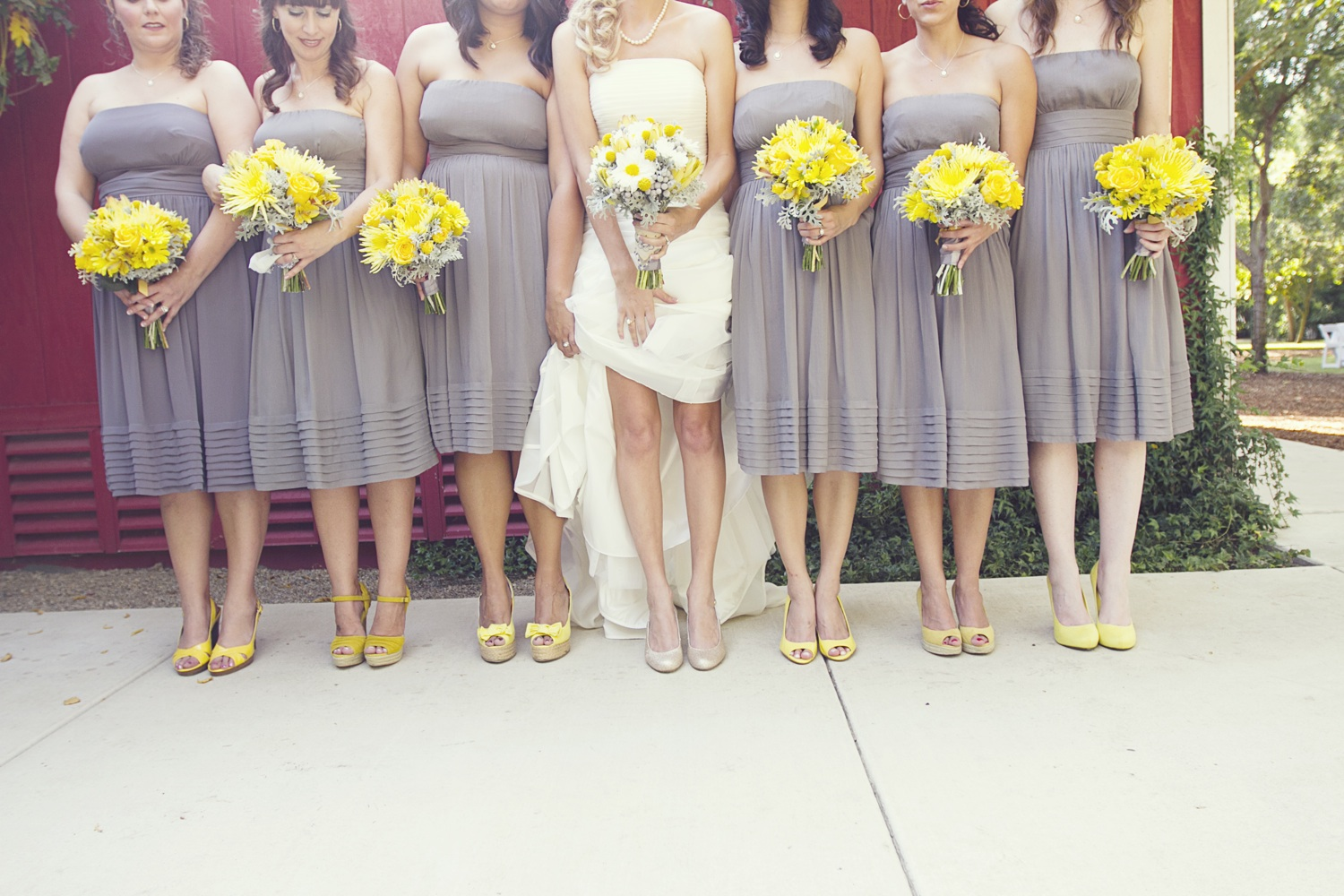 Yellow And Gray Wedding Bridesmaid Dresses 113