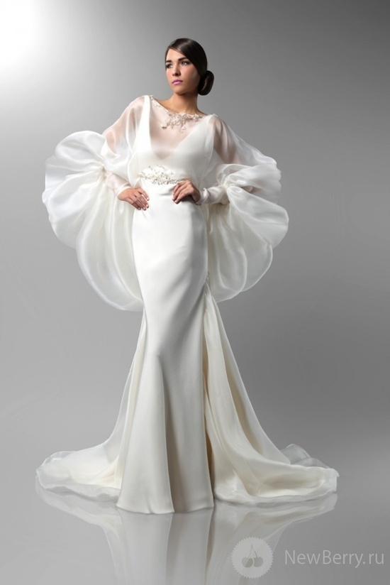 Fall 2013 bridal trends incredible sleeves