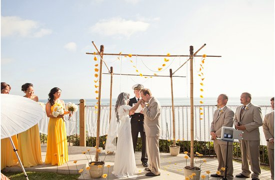 outdoor wedding venues beachside military wedding