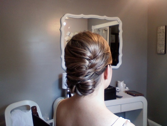 smooth textured updo