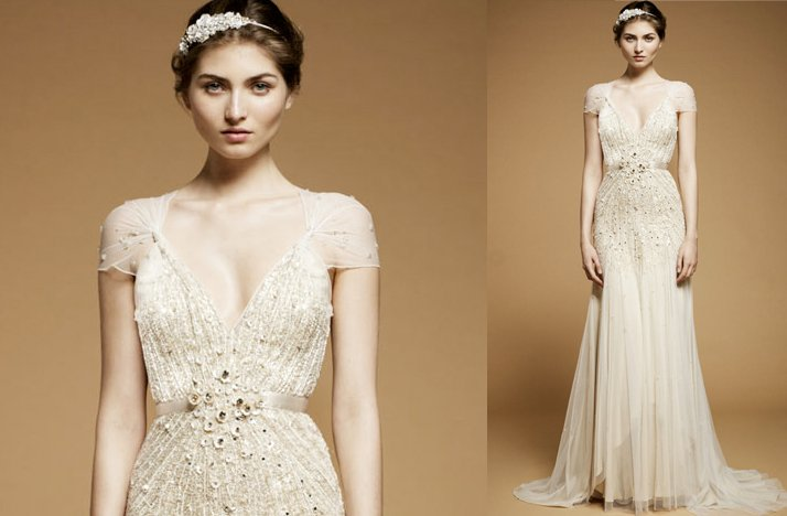 Jenny packham 2012 wedding dress with cap sleeves 1 for 2012 dresses