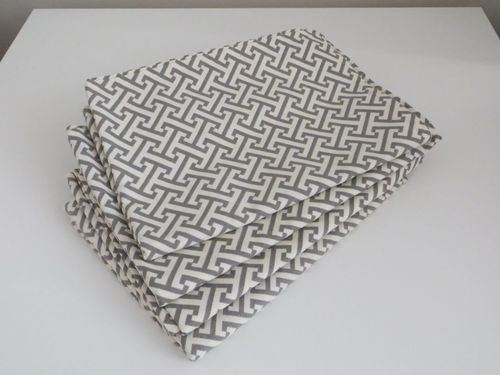 Grey and White Table Runners (Set of 4)