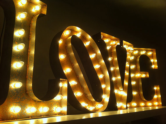 Vintage Marquee Love Sign