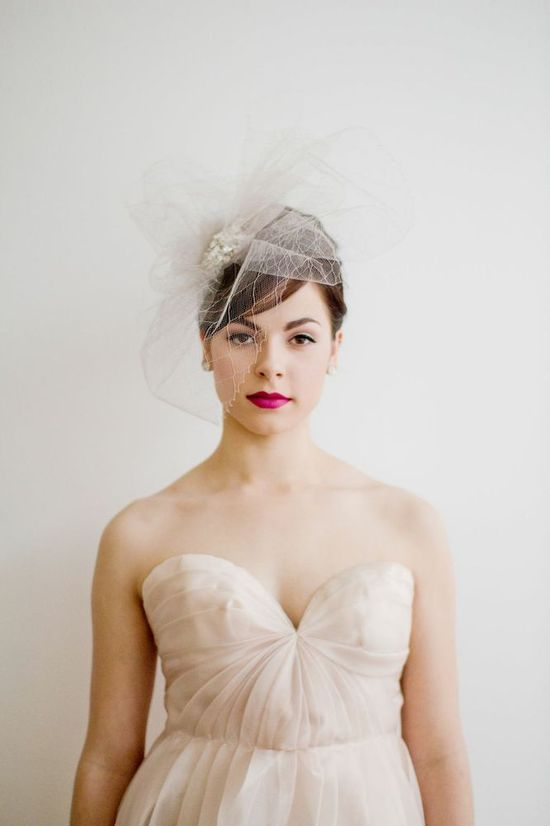 photo of Statement wedding headpiece by Emici Bridal