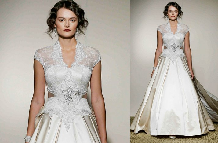Cap sleeves wedding dresses, 2012- St. Pucchi, Kate Middleton inspired