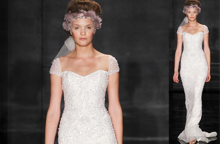 wedding dress with beaded cap sleeves « Bella Forte Glass Studio