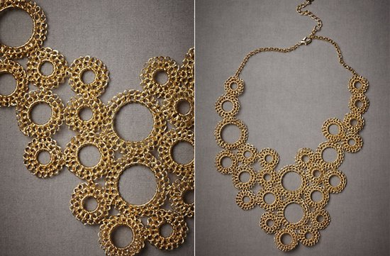 Gold bridal necklace by BHLDN