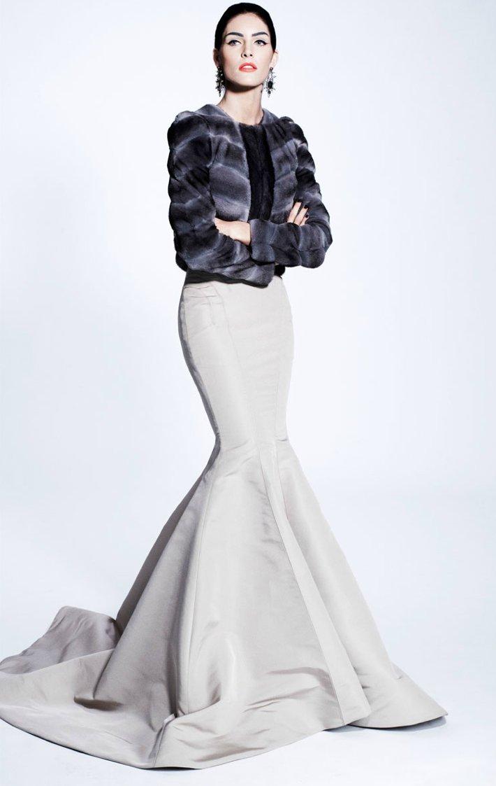 posen wedding dress inspiration pre fall 2012 winter wedding fur