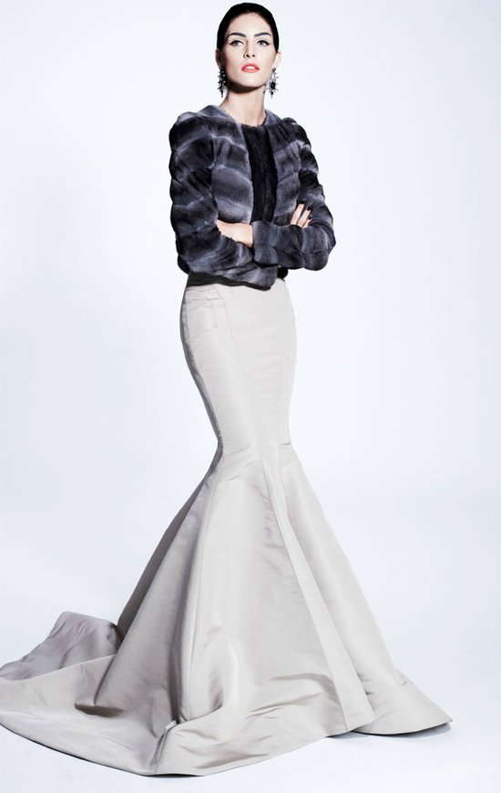 zac posen wedding dress inspiration pre fall 2012 winter wedding fur