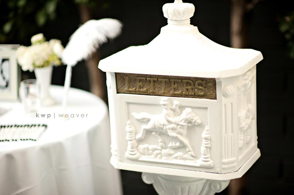 Elegant Rustic Wedding Real Photos Unique Card Holder