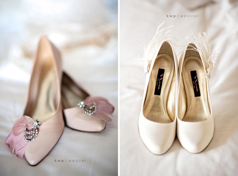 Vintage Wedding Style Photography Bridal Heels